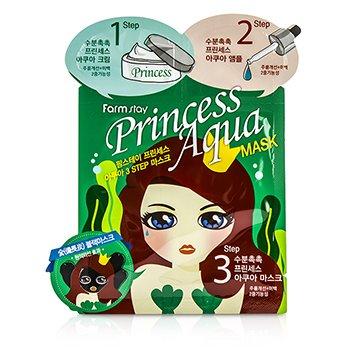 Princess 3-Steps Mask -  Aqua  10pcs