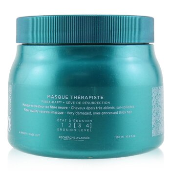 卡詩  Resistance Masque Therapiste Fiber Quality Renewal Masque (For Very Damaged, Over-Processed Thick Hair)  500ml/16.9oz