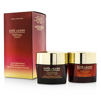 Estée Lauder Nutritious Vitality8 Day & Night Radiance: Moisture Creme 50ml + Overnight Creme/Mask 50ml  2x50ml/1.7oz