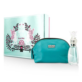 Anna Sui Secret Wish Coffret: Eau De Toilette Spray 30ml/1oz + Bolsa Para Cosm�ticos  1pc+1pouch