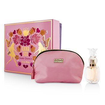 Anna Sui Secret Wish Fairy Dance Coffret: toaletna voda u spreju 30ml/1oz + kozmetička torbica  1pc+1pouch