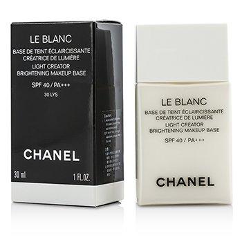 ชาแนล เบสรองพื้น Le Blanc Light Creator Brightening Makeup Base SPF40 - #30 LYS  30ml/1oz