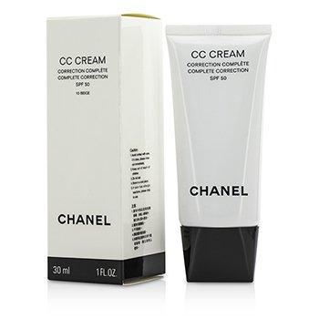 Chanel مصحح كامل كريمي CC SPF 50 / PA++++ #10 بيج  30ml/1oz