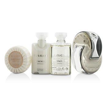 Omnia Crystalline Coffret: Eau De Toilette Spray 65ml/2.2oz + Body Lotion 40ml/1.35oz + Shower Gel 40ml/1.35oz + Soap 50g/1.76oz + Pouch  4pcs+1pouch