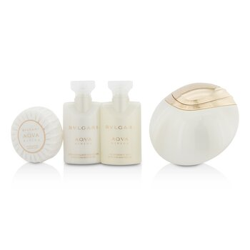 Aqva Divina Coffret: Eau De Toilette Spray 65ml/2.2oz + Body Lotion 40ml/1.35oz + Shower Gel 40ml/1.35oz + Soap 50g/1.76oz + Pouch  4pcs+1pouch