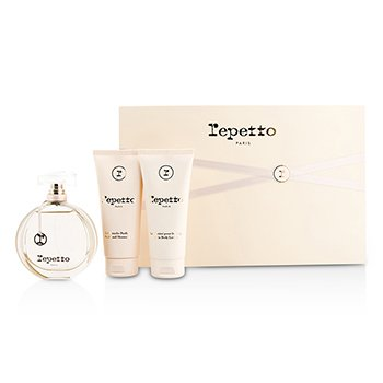 Repetto Coffret: Eau De Toilette Spray 80ml/2.6oz + Body Lotion 100ml/3.3oz + Shower Gel 100ml/3.3oz  3pcs