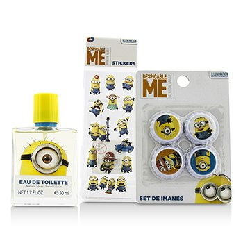 Zestaw Minions Coffret: Eau De Toilette Spray 50ml/1.7oz + Magnets + Stickers  3pcs