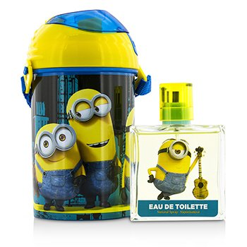 Minions Coffret: Eau De Toilette Spray 50ml/1.7oz + Water Bottle + Backpack  2pcs+1bag