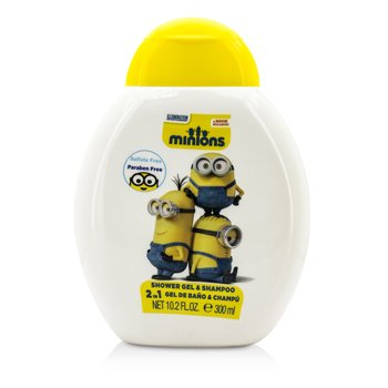 Air Val International Minions 2 En 1 Gel de Ducha & Champú  300ml/10.2oz