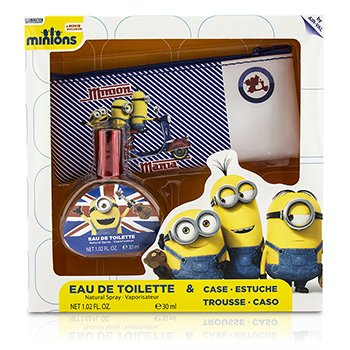 Air Val International Minions Coffret: Eau De Toilette Spray 30ml/1oz + Estuche  2pcs