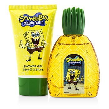 Spongebob Coffret: Eau De Toilette Spray 50ml/1.7oz + Shwoer Gel 75ml/2.5oz 2pcs