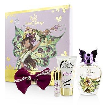 Winx Fairy Couture Stella Chic Essence Coffret: Eau De Toilette Spray 100ml/3.4oz + Loción Corporal 75ml/2.55oz + Rollerball 5ml/0.17oz + Clip para Cabello  4pcs