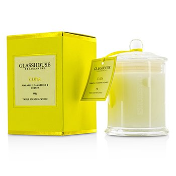 Glasshouse Triple Scented Candle - Cuba (Pineapple, Tangerine & Cherry)  60g