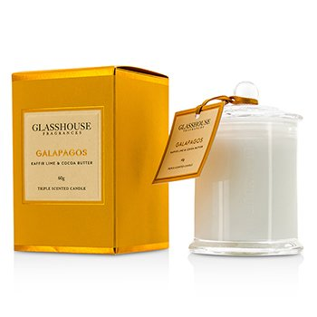 Glasshouse Triple Scented Candle - Galapagos (Kaffir Lime & Cocoa Butter)  60g