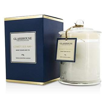 Glasshouse Triple Scented Candle - Coney Island (Burnt Sugar & Fig)  350g