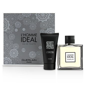 Guerlain L'Homme Ideal Coffret: Eau De Toilette Spray 100ml/3.3oz + Gel de Ducha 75ml/2.5oz  2pcs