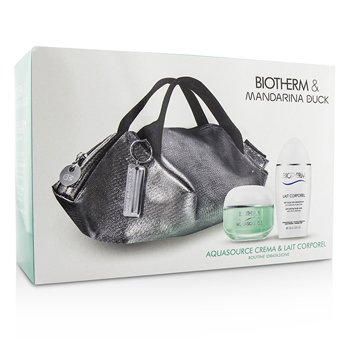 Aquasource & Body Care X Mandarina Duck Coffret: Cream N/C 50ml + Anti-Drying Body Care 100ml + Handle Bag  2pcs+1bag
