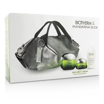 Skin Best X Mandarina Duck Coffret: Cream SPF15 N/C 50ml + Night Cream 15ml + Biosouce Cleansing Water 30ml + Handle Bag  3pcs+1bag