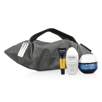 Blue Therapy X Mandarina Duck Coffret: Cream SPF15 N/C 50ml + Serum-In-Oil 10ml + Cleansing Water 30ml + Handle Bag  3pcs+1bag