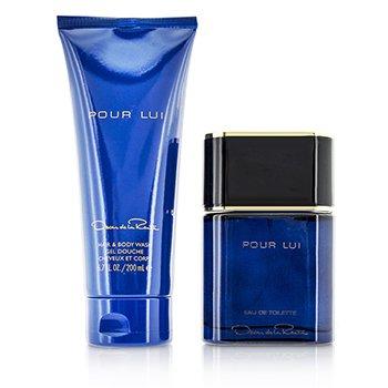 Pour Lui Coffret: Eau De Toilette Spray 90ml/3oz + Hair & Body Wash 200ml/6.7oz 2pcs