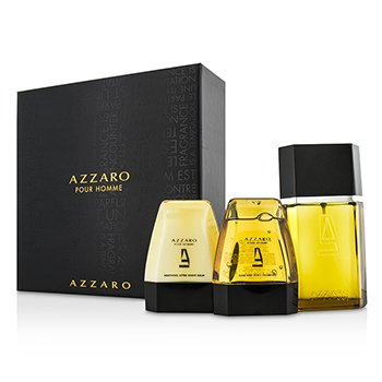 Azzaro Azzaro Coffret: Eau De Toilette Spray 100ml/3.4oz + Champú para Cuerpo & Cabello 75ml/2.6oz + Bálsamo para Después de Afeitar 75ml/2.6oz  3pcs