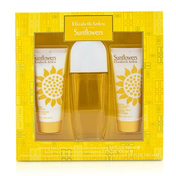 Sunflowers Coffret: Eau De Toilette Spray 100ml/3.3oz + Body Lotion 100ml/3.3oz + Hydrating Cream Cleanser 100ml/3.3oz 3pcs