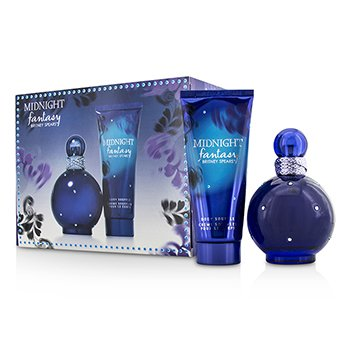 Britney Spears Midnight Fantasy Set: Apă de Parfum Spray 100ml/3.3oz + Sufleu pentru Corp 100ml/3.3oz  2pcs