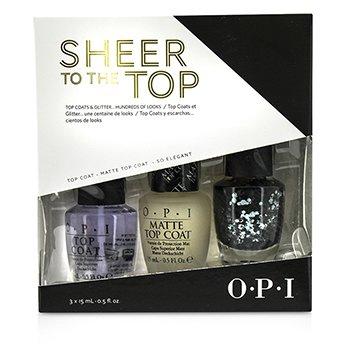 O.P.I Sheer To The Top (Top Coat & Glitter Trio)  3x15ml/0.5oz