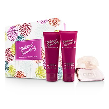 Gale Hayman Delicious Cotton Candy Coffret: Eau De Toilette Spray 100ml/3.3oz + Loción Corporal 100ml/3.4oz + Gel de Ducha 100ml/3.4oz  3pcs
