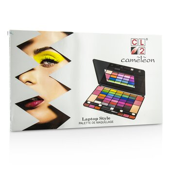 Laptop Style MakeUp Kit 8075 (35x EyeShadow, 4x Blusher, 2x Powder Cake, 6x Lipgloss)  -
