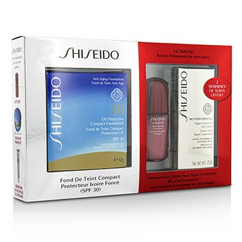 Shiseido UV Protective Powder Coffert: 1xUltimune Concentrate, 1xBio Performance EyeCream, 1x Compact Foundation - #SP70  3pcs