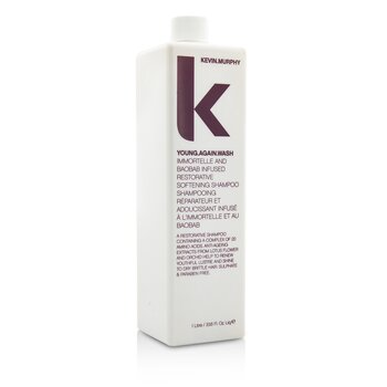 Young.Again.Wash (Immortelle and Baobab Infused Restorative Softening Shampoo - To Dry Brittle Hair)  1000ml/33.6oz