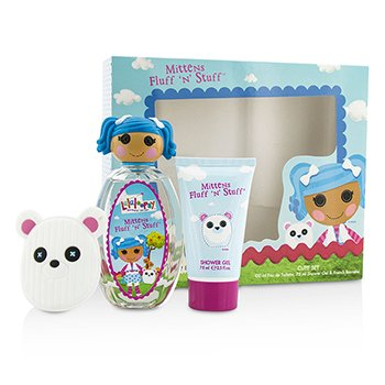 Lalaloopsy Mittens Fluff 'N' Stuff Cute szett: Eau De Toilette spray 100ml/3.4oz + tusolózselé 75ml/2.5oz + French Barrette  3pcs