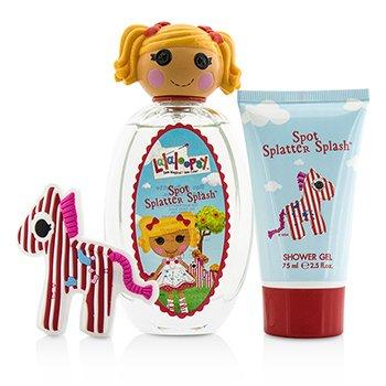 Spot Splatter Splash Cute Coffret: Eau De Toilette Spray 100ml/3.4oz + Shower Gel 75ml/2.5oz + French Barrette  3pcs
