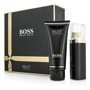 Hugo Boss Boss Nuit Pour Femme Coffret: Eau De Parfum Spray 50ml/1.6oz + Loción Corporal 100ml/3.3oz  2pcs