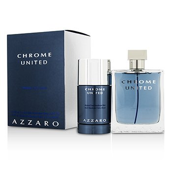 Azzaro Chrome United Coffret: Eau De Toilette Spray 100ml/3.4oz + Desodorante en Barra 75ml/2.1oz  2pcs