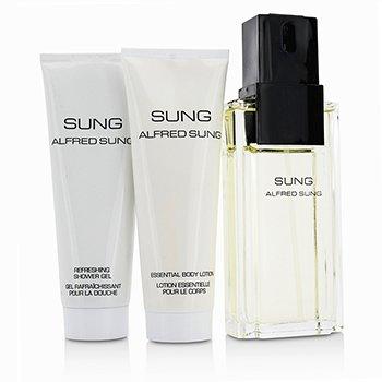 Sung Coffret: Eau De Toilette Spray 100ml/3.4oz + Body Lotion 75ml/2.5oz + Shower Gel 75ml/2.5oz  3pcs