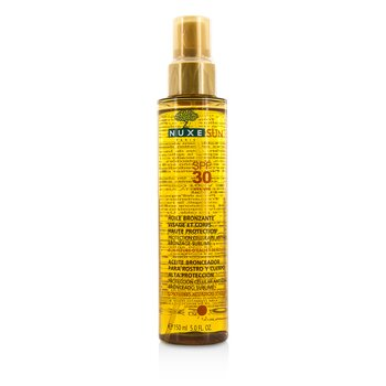 Nuxe Sun Tanning Oil For Face & Body High Protection SPF 30 150ml/5oz