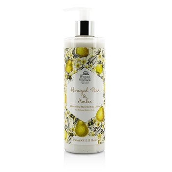 Woods Of Windsor Honeyed Pear & Amber Moisturising Hand & Body Lotion  350ml/11.8oz