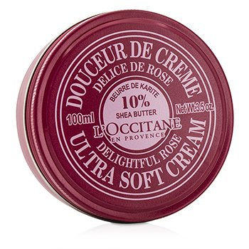 L'Occitane Shea Butter 10% Crema Ultra Suave - Delightful Rose  100ml/3.5oz