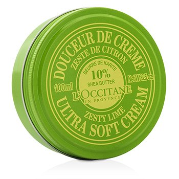 L'Occitane Shea Butter 10% Ultra Soft Cream - Zesty Lime  100ml/3.5oz