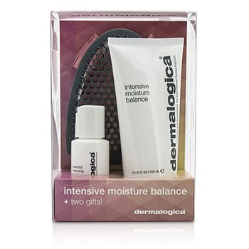 Dermalogica Intensive Moisture Balance Limited Edition Set: Intensive Moisture Balance 100ml + Essential Cleansing Solution 30ml + Facial Cleansing Mitt  3pcs