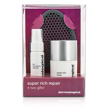 Dermalogica Super Rich Repair Set Edición Limitada: Super Rich Repair 50ml + Skin Resurfacing Limpiador 30ml + Guante Limpiador Facial  3pcs