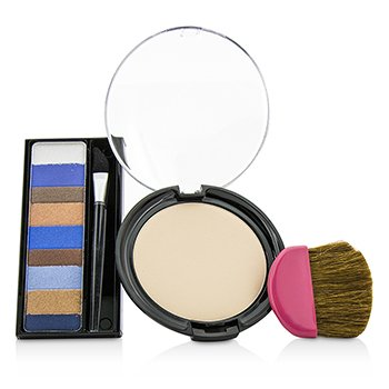 Makeup Set 8658: 1x Shimmer Strips Eye Enhancing Shadow, 1x CoverToxTen50 Face Powder, 1x Applicator  3pcs