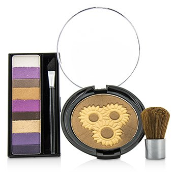Makeup Set 8660: 1x Shimmer Strips Eye Enhancing Shadow, 1x Bontanical Bronzer, 1x Applicator  3pcs