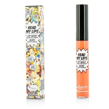 TheBalm ลิปกลอส Read My Lips (Lip Gloss Infused With Ginseng) - #Pop!  6.5ml/0.219oz