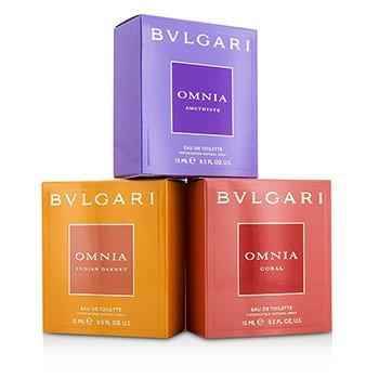 Omnia The Jewel Charms Collection Coffret: Omnia Amnethyste + Omnia Coral + Omnia Indian Garnet 3x15ml/0.5oz