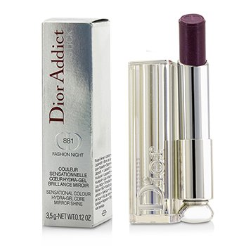 Christian Dior Dior Addict Hydra Gel Core Mirror Shine Color Labios - #881 Fashion Night  3.5g/0.12oz