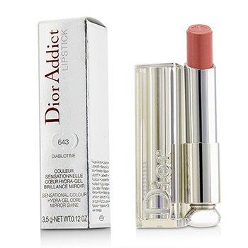 Christian Dior Dior Addict Pintalabios Núcleo de Hidra Gel Brillo de Espejo - #643 Diablotine  3.5g/0.12oz
