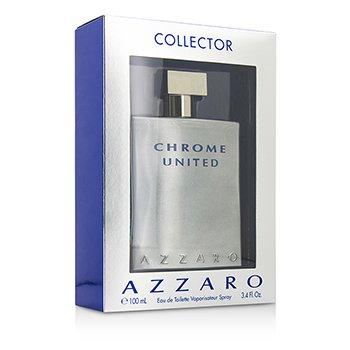 Azzaro Chrome United Eau De Toilette Spray (Edición de Colección)  100ml/3.4oz